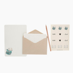 An April Idea vintage typewriter writing set