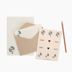 An April Idea hot air balloon writing set