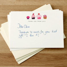Personalised thank you cards (set of 8)