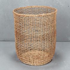 Fine rattan open weave basket