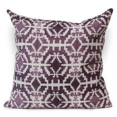 Sun Stone Urban Aztec Cushion Cover in Imperial Purple
