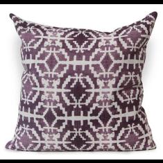 Sun Stone Urban Aztec Cushion Cover in Imperial Purple