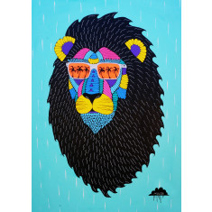 Leroy the Lion Art Print