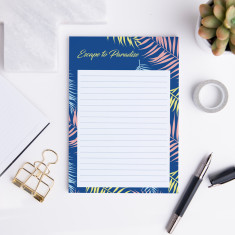 Personalised Escape to Paradise A5 Notepad