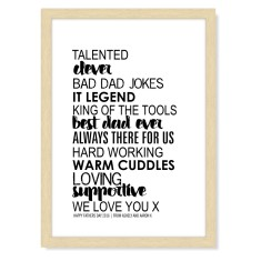Personalised print for him (various colours)