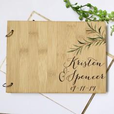 Personalised Eucalyptus wedding guestbook