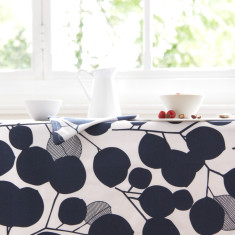 Oilcloth tablecloth - Eucalyptus Mood Indigo