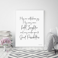 May Our Walls Know Joy Wall Art Print