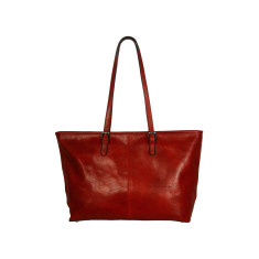 Elena full grain work bag in red