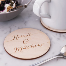 Calligraphy drinks coasters