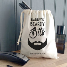 Men's Personalised Beardy Bits Canvas Bag