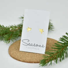 Seasons Tweetings Bird Studs Gold