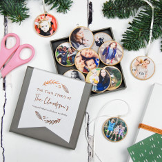 Personalised Our Family Christmas Photo Decorations