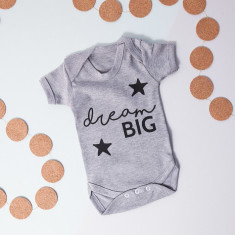 Personalised Dream Big Babygrow