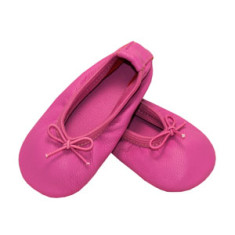 Baby ballet slippers in pizzaz pink
