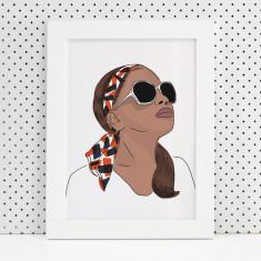 Maya Fashion Illustration print