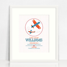 Boys' personalised circle birth prints (various designs)