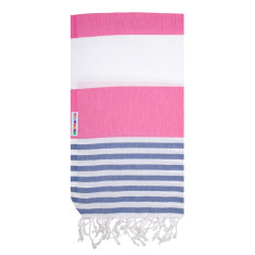 Hammamas Turkish Towels in Reef Denim / Watermelon