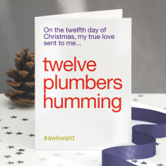 Twelve Drummers Drumming Funny Christmas Card