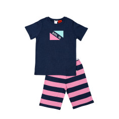Navy Marle Flag Senior Pjs