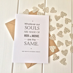 Wuthering Heights Valentine's card