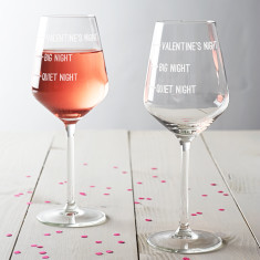 Valentine's Night Wine Glass