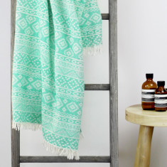 Caribbean Turkish Towel in Emerald Green