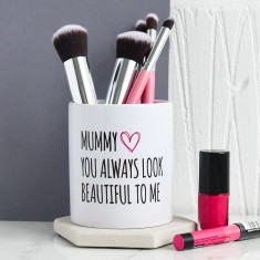 Personalised Mummy Make Up Brush Pot