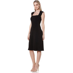Olivia cap sleeve dress in black