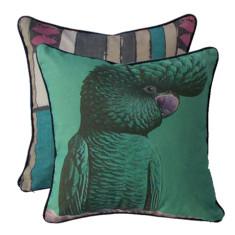 Jade Cockatoo eco cushion cover