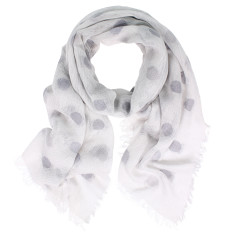Lido Wool Cotton Spot Scarf