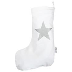 Christmas stocking silver star