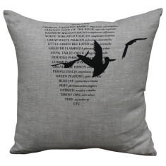 Cushion cover in 3 birds