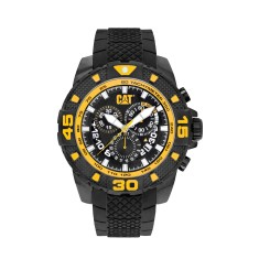 CAT DP Chrono series watch in black & yellow plus free gift