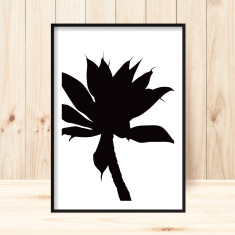 Silhoutte agave art print (various sizes)