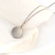 Flower Petal Pendant in 18ct White Gold