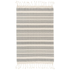 Hammam Towel Black Stripe