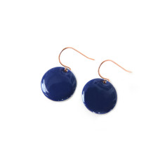 Rose gold indigo earrings