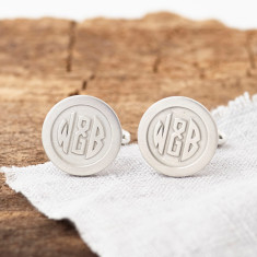 Personalised Deco Monogram Hidden Message Cufflinks