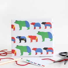 Bear super hero wrapping paper (set of two wrap and tag)