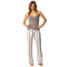Here And There Pant In Pebble And White