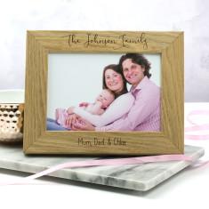 Personalised Family Portrait Photo Frame