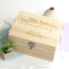 Personalised 18th Birthday Memories Keepsake Box