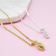 Skull Pendant Necklace (Various Colours)