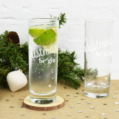 Let Christmas Be Gin Glass