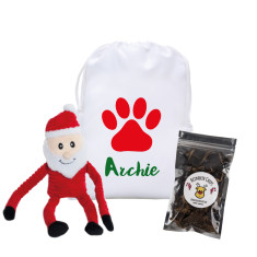 Personalised Christmas pet hamper for dogs in Xmas Paw
