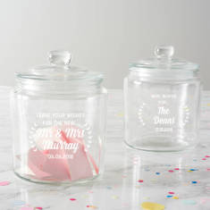 Personalised Wishes Wedding Jar