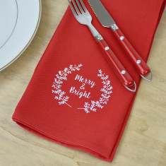 Merry And Bright Christmas Napkins