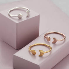 Luxe Sun And Moon Open Ring