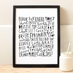 Baking Words Print